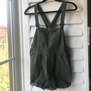 Brandy Melville army green overalls